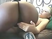 Black babe caress and dildos preggo